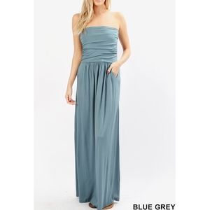HAILEY Maxi Dress  - BLUE GREY